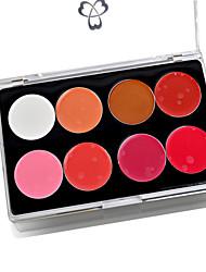 8 paleta de cores de batom gloss maquiagem