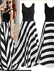Women's Straps Dresses , Chiffon/Cotton Sexy/Casual Sleeveless YaYiGe