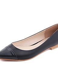 Zapatos de mujer - Tacón Bajo - Bailarina / Innovador - Planos - Oficina y Trabajo / Vestido / Casual - Semicuero - Negro