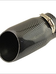 "3"" Inlet Slant Cut Carbon Fiber Print Car Exhaust  Muffler Tip for Audi A6L"