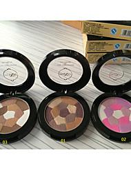 6 Palette de Fard à Paupières Sec / Lueur Fard à paupières palette Poudre Normal Maquillage Quotidien