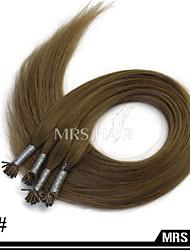 """24 """"10 # natürliche mittelbraune Farbe Stick i tip remy Menschenhaarverlängerungen 1.0g / pc 100pcs vor-verbundenes Haar"""