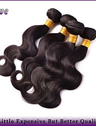 "4Pcs/Lot 8""-28"" Peruvian Virgin Hair Natural Black Body Wave Human Hair Bundles Rosa Hair Products 6A Uprocessed hair"