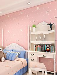 papel de parede contemporâneo art deco parede rosa pouco wallpaper menina cobrindo a arte de não-tecidos da parede da tela
