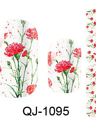 Beautiful Flower Fairy Peony Nail Art Stickers