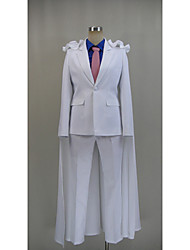 Inspired by Detective Conan Kid the Phantom Thief Video Game Cosplay Costumes Cosplay Suits Solid White Long SleeveCloak / Top / Shirt /