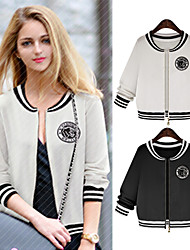 Women's Hoodie Coats & Jackets , Cotton Blend Casual Long Sleeve Phylomeya