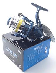 Carrete de la pesca Carretes para pesca spinning 5.1:1 4.0 Rodamientos de bolas IntercambiablePesca de baitcasting / Pesca en hielo /
