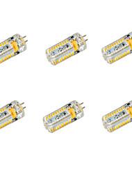 Bombillas LED de Mazorca T G4 7W 72 SMD 3014 650 LM Blanco Cálido / Blanco Fresco DC 12 / AC 12 / AC 24 / DC 24 V 6 piezas