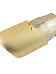 """2.6"""" 65MM Inlet Oval Slant Cut Car Exhaust Pipe Muffler Tip Gold Tone for Audi Q5"""