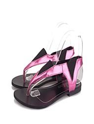 Women's Shoes Flat Heel Flip Flops/Comfort Sandals Outdoor/Dress/Casual Purple/White/Gold