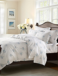 H&C 100% Cotton 800TC Duvet Cover Set 3-Piece and 4-Piece Flowers Pattern MT003-1