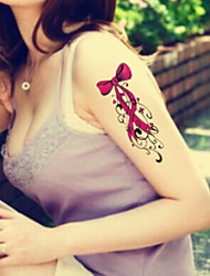 2015 Latest Version High Quality Creative Fashion Waterproof One-Time Tattoo Stickers ——Bows And Flowers