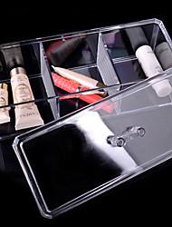 3 und transparentem Acryl kosmetische Boxen