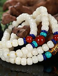 primaire racine Bodhi perles bracelet long tambour