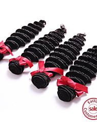 EVET Hair Products Brazilian Deep Wave Virgin Hair Unprocessed Brazilian Deep Wave Virgin Hair Natural Black 3pcs/Lot