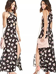 Women's Dresses , Chiffon Sexy/Print/Party Sleeveless summer