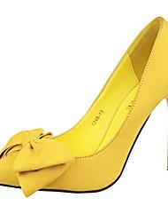 Zapatos de mujer - Tacón Stiletto - Tacones / Puntiagudos / Punta Cerrada - Tacones - Vestido - Ante Sintético -Negro / Azul / Amarillo /