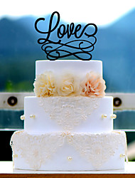 Love Acrylic Wedding Cake Topper