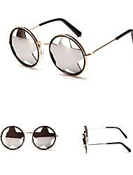 Sunglasses Men / Women / Unisex's Elegant / Retro/Vintage / Fashion Round Gold Sunglasses Full-Rim