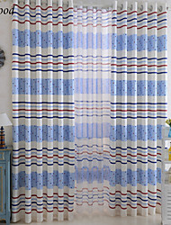 (One Panel) Grommet Top Polyester Cotton Blend Funny Soft Printing Children Room Fabric Curtain