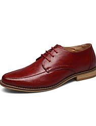 Men's Shoes Wedding/Casual/Party & Evening Leather Oxfords Black/Red
