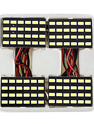 lorcoo ™ 4pcs noir 24 LED PANEL 5050 plafonnier SMD lampe + T10 BA9S feston adaptateur