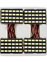 lorcoo ™ 4pcs negro 24 del panel LED 5050 luz cúpula smd de la lámpara + t10 BA9S adaptador