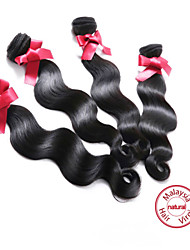 "EVET Malaysian Body Wave Virgin Hair Body Remy Human Hair Weaves 4 Bundles Natural Black 400g/lot 8""-26"""