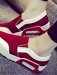 Canvas Lady Women's Shoes Black/Grey/Red Wedge Heel 3-6cm Fashion Sneakers