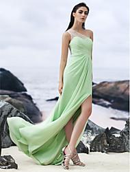 Formal Evening Dress Sheath/Column One Shoulder Floor-length Chiffon