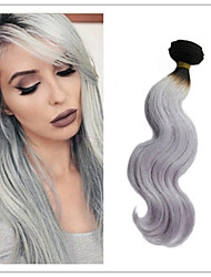 3Pcs/Lot Brazilian Virgin Human Hair Body Wave Ombre Silver Grey Hair Weaving 1B/Grey Two Tone Hair Extensions