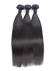 """3pcs lote 8 """"-30"""" cabelo sedoso brasileiro não transformados reta virgem tramas Remy preto natural feixes tecer cabelo humano"""