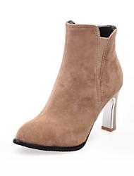 Women's Shoes FauxSpool Heel Round Toe/Closed Toe Boots