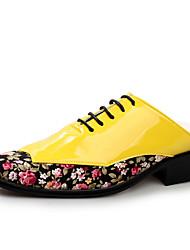 Oxfords ( Cuero , Verde/Rojo/Blanco/Amarillo Zapatos de hombre
