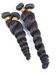 "1Pcs Lot 8""-26"" Eurasian Virgin Hair Loose Wave Natural Black Human Hair Weaves/Bundles"
