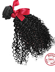 EVET Peruvian Curly Hair Weft Peruvian Virgin Hair Extension Kinky Curly Hair Weaves Bundles Natural Color 1pc 100g/pc