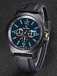Men's Watch Japanese Quartz Fashion Watch Silicone Band Wrist watch Cool Watch Unique Watch