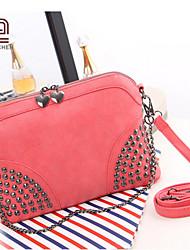 Handcee® Hot Selling Woman PU Bag Metal Rivet Sling Bag