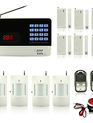 Wireless LCD Display GSM Alarm System With Wired And Wireless Zones