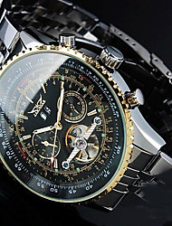 JARAGAR Men's Luxury Auto-Mechanical Tourbillon Watch Steel Band