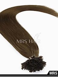 """20 """"6 # uñas remy punta extensiones de cabello humano 100 piezas brasileñas 80grams pelo 0.8g / pc / pack queratina pre-condiciones de"""