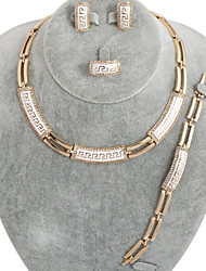 westernrain rhinestone de la joyería del chapado en oro de la mujer
