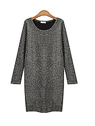 Women's Round Dresses , Wool/Wool Blend Vintage/Sexy/Casual/Party/Work Long Sleeve SCHOOL