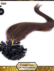 "20"" Medium Brown(#4) 100S Nail Tip Remy Human Hair Extensions"