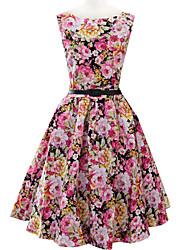 Women's Round Bandage Dress , Cotton Blend Vintage/Bodycon/Casual/Party/Work Sleeveless VERYM
