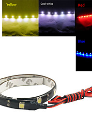 0.3M 12LED White/Red/Blue/Yellow Flexible LED Light Strips DC12 V