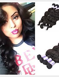 """3pcs/lot 8""""-34"""" Brazillian Virgin Hair Loose Wave Unprocessed Brazilian Loose Wave Virgin Human Hair Weaves"""