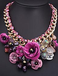 Kubao High Quality Popular Crysatl Flower Necklace