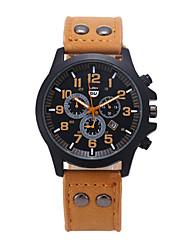 Мужской Наручные часы Кварцевый Кожа Группа бренд-